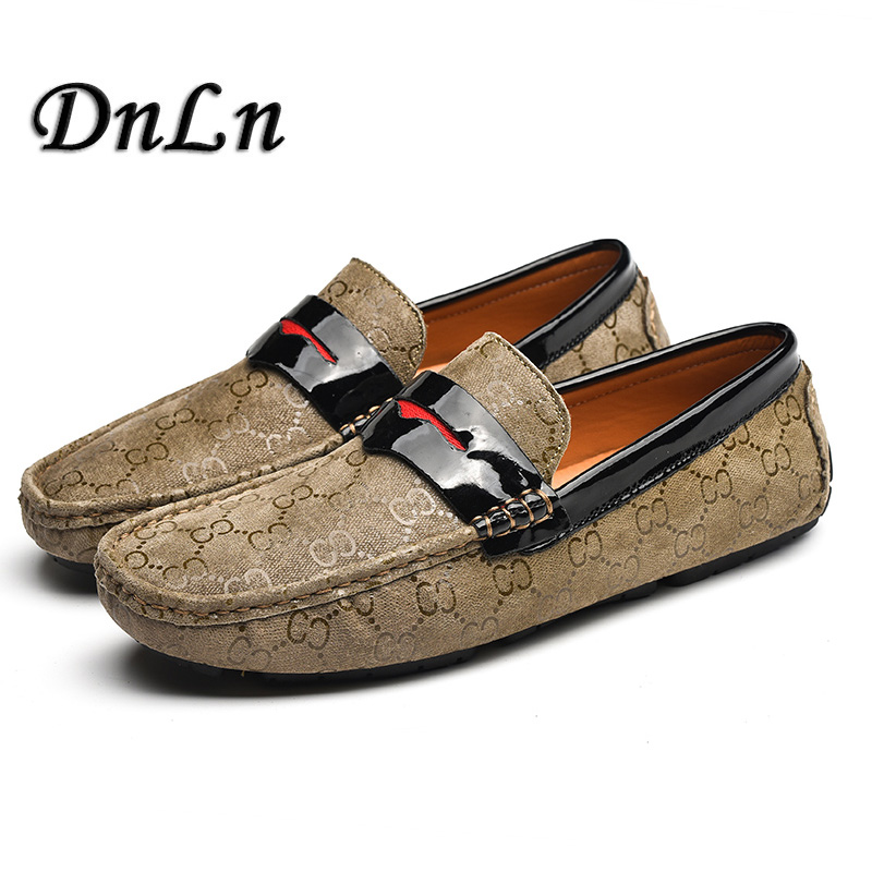 5b38199e73e 2018 Brand New Luxury Men Brown Penny Loafer Suede Leather Mocassin 2018  Mens Flats Male Footwear Slip On Dress Shoes D50-in Men s Casual Shoes from  Shoes ...