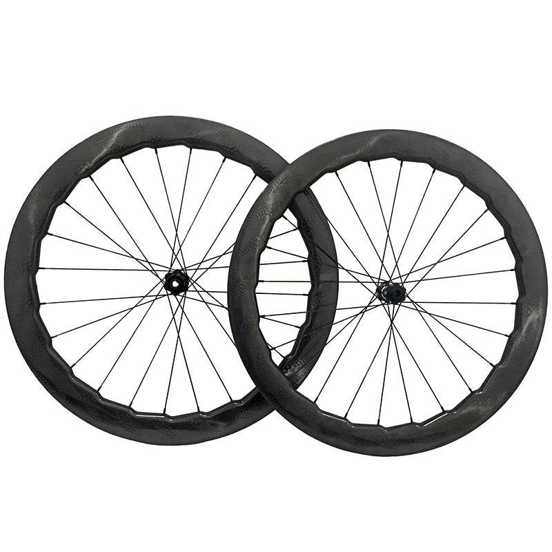 Disc Brake Full Carbon Wheels 58mm Carbon Cyclocross Bike Wheel Novatec D411 412 6 Botls Center