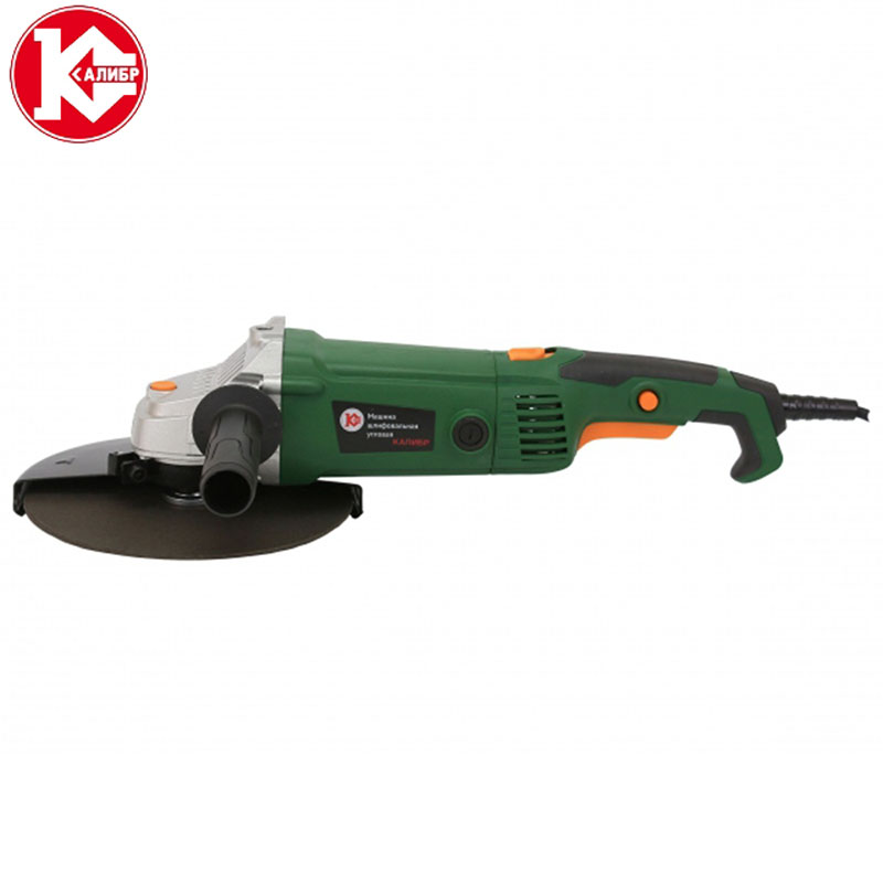 Kalibr MSHU-230/2200P Handheld Electric Angle Grinder Speed Regulating Grinding Machine for Metal Wood Polishing Cutting Tool