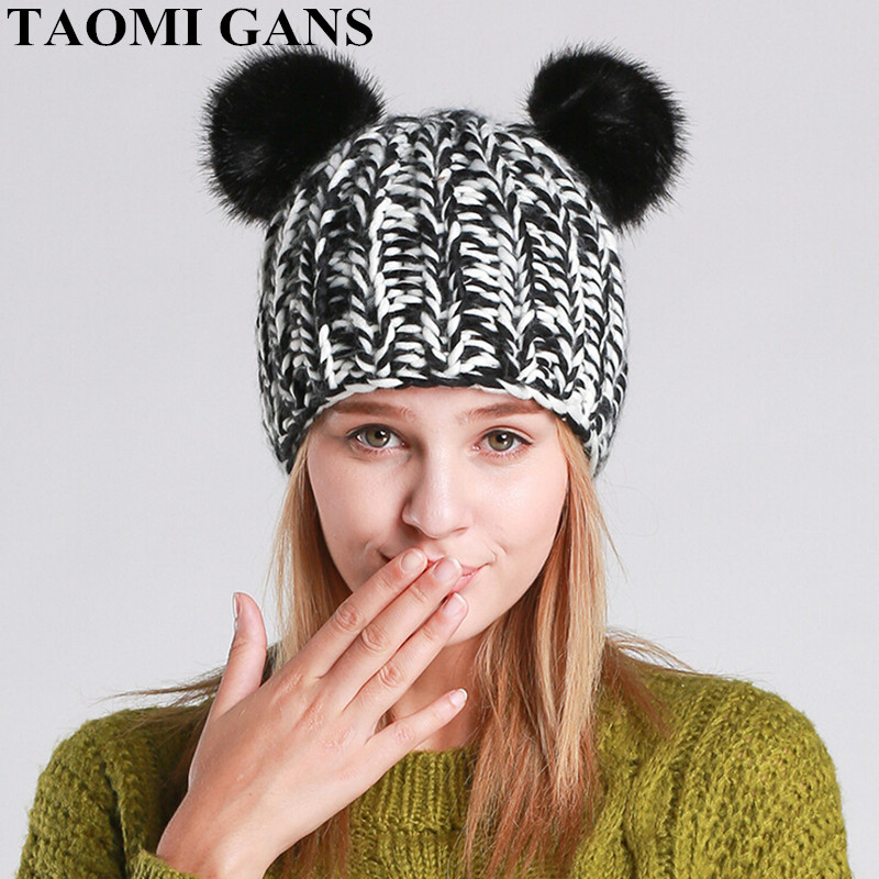 TAOMI GANS Winter Autumn Warm Beanie Caps 2017 New Fashion Women's hats Cotton Skullies Cap mcpd 70 – 518 exam ref designing and developing windows applications using microsoft net framework 4