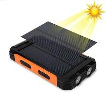 Waterproof solar alternative battery phone actual 20,000 mAh dual USB external polymer battery battery outdoor bulb power bank