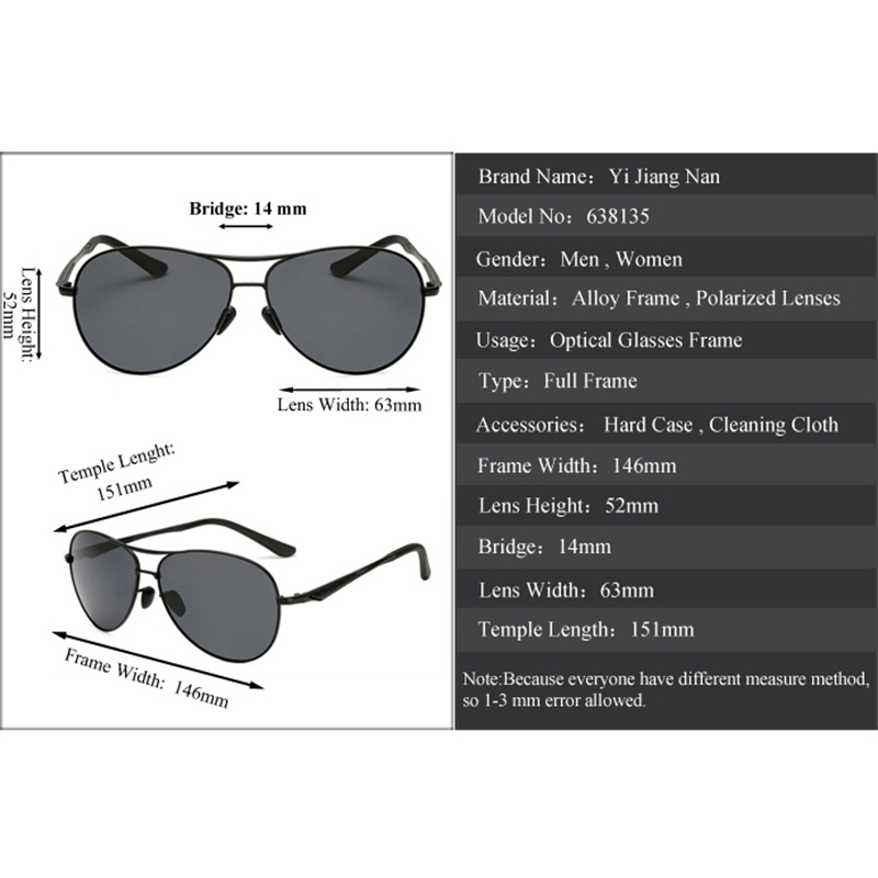 Yi Jiang Nan Brand 2018 New Elegant Fashion Aviator Driving Sunglasses Polarized UV400 Driving Oculos De Sol Masculino for Women in Men 39 s Prescription Glasses from Apparel Accessories