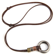 NEW Fashion Key Vintage Ethnic Long Sweater Chain Cross Genuine Leather Women Pendant Necklaces Men Jewelry Accessories
