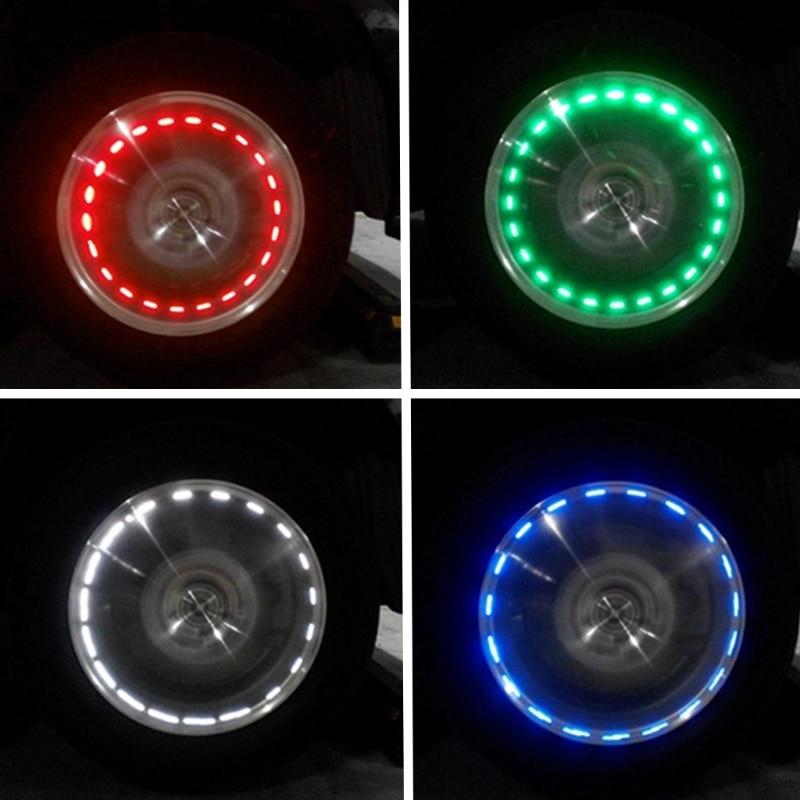 Decor Lamp Valves Auto Motocycle Wheel Light Air Caps Car-styling Tire Valve Caps Solar Energy LED Light