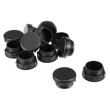 UXCELL 12Pcs 30mm Black Plastic Push Button Switch Hole Panel Plug For 30mm/1.18-inch Reserved Switches
