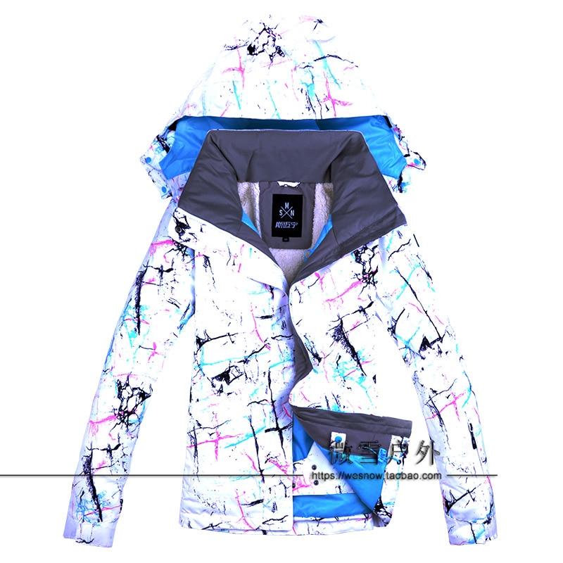2019 montagne femmes veste de Ski Snowboard Ski vêtements coupe-vent imperméable à l'eau en plein air Sport porter femme Super chaud épaissir manteau