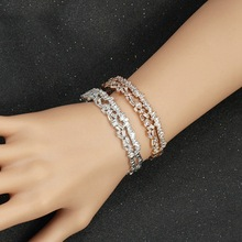 Fashion Multi Layered Baguette Bangle For Women