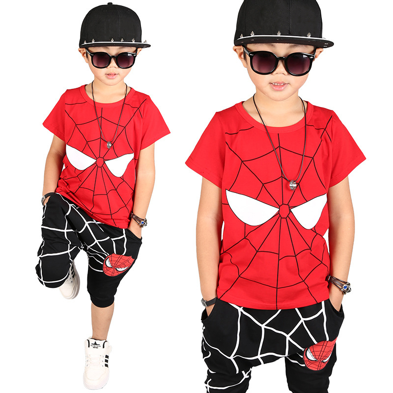 boys clothes summer 2017 clothes sets character red black boys set for 4 6 8 10 12 years t shirt pants 2 pcs children clothing