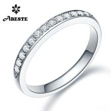 ANI 18K White/Yellow/Rose Gold (AU750) Women Wedding Band 0.195CT Certified I-J/SI Bijoux Real Natural Diamond Ring bague fine