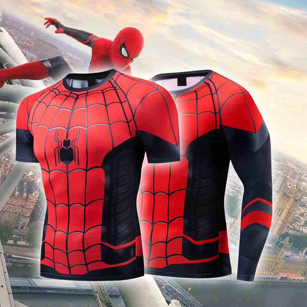 Spider Man: Far From Home   T     shirts   Peter Parker 3D Print Tshirt Superhero Spiderman Compression   Shirts   Cosplay Unisex Tee Tops