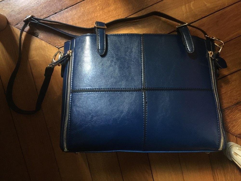 Luxury Handbags Women Bags Designer Split Leather Bags Women Handbag Brand Top Handle Bags Female Shoulder Bags Wlhb974 photo review