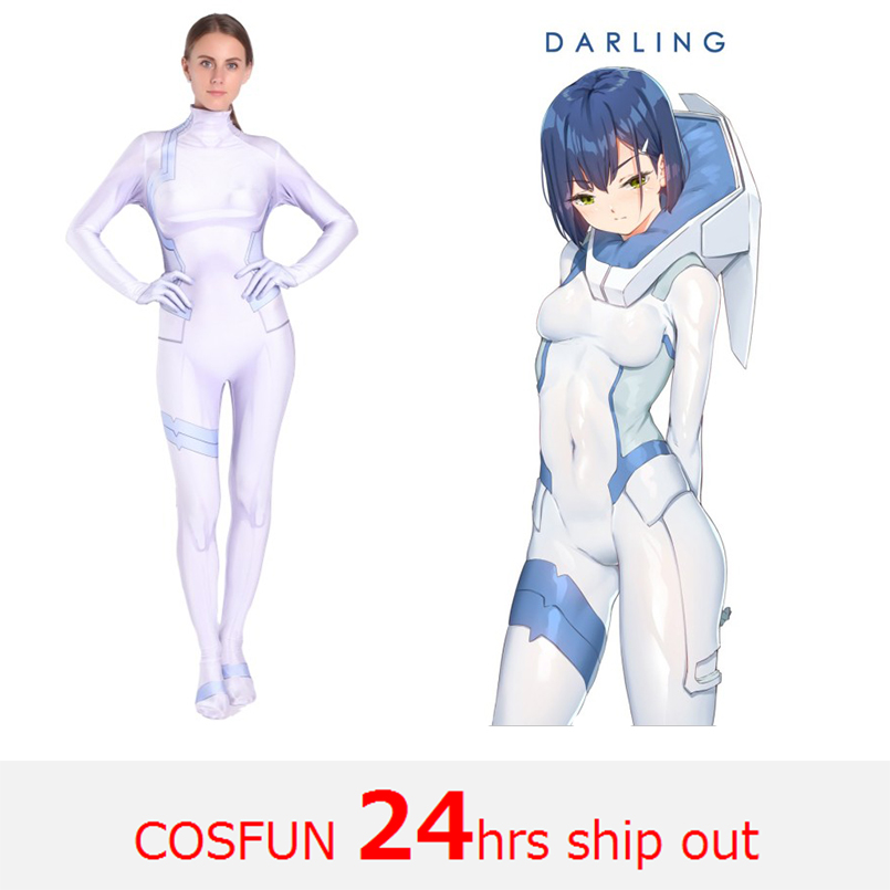 Fast shipping Darling in the Franxx Ichigo Cosplay Costumes Anime Bodysuits Halloween Costumes Franxx Ichigo cosplay party dress