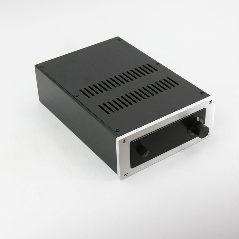 New JC229B All Aluminum Housing Power Amp Chassis Preamplifier Case DIY Box Amplifier Audio Enclosure 220MM*90MM*311MM queenway 2210 new l panel cnc full aluminum chassis audio box power amplifier case 362mm 220mm 100mm 362 220 100mm