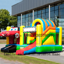 Commercial inflatable bouncer in slide for kids with blower
