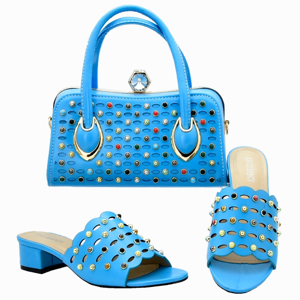 Turquoise blue shoes and bag matching set italian slippers shoes and clutches handle bag set newest shoes and bag set SB8304-2Turquoise blue shoes and bag matching set italian slippers shoes and clutches handle bag set newest shoes and bag set SB8304-2