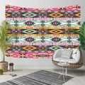 Outra Cor de Rosa Azul Amarelo Padrão Decorativo Impressão Étnica Asteca Kilim 3D Hippi Bohemian Paisagem Tapeçaria Da Suspensão de Parede Arte Da Parede