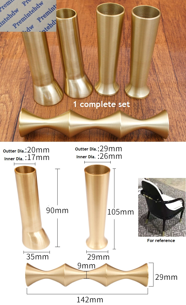 Solid Brass Tip Cap for Mid-Century Modern Chinese Chair Table Leg Feet Tapered Chair Handle FittingsSolid Brass Tip Cap for Mid-Century Modern Chinese Chair Table Leg Feet Tapered Chair Handle Fittings