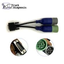 6 Và 9 Pin Y Cáp USB Liên Kết 125032 Diesel Xe Tải Chẩn Đoán Máy Quét PN 405048 Cáp Chuyển Đổi