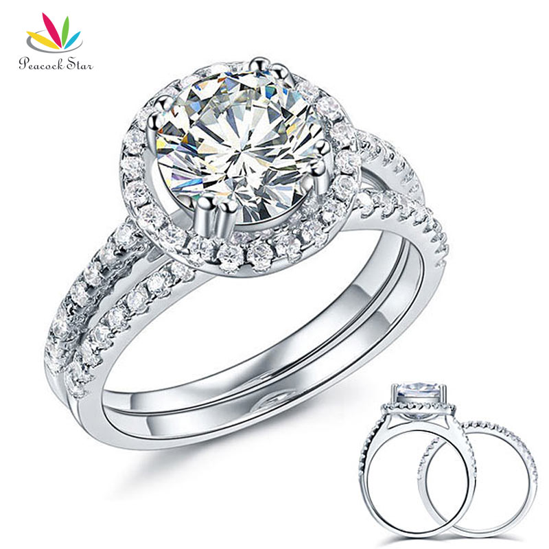 Size 5 to 10 HB AMERICA Sterling Silver Round 1.2ct CZ Prong Setting Five Stone Wedding Anniversary Ring 4MM