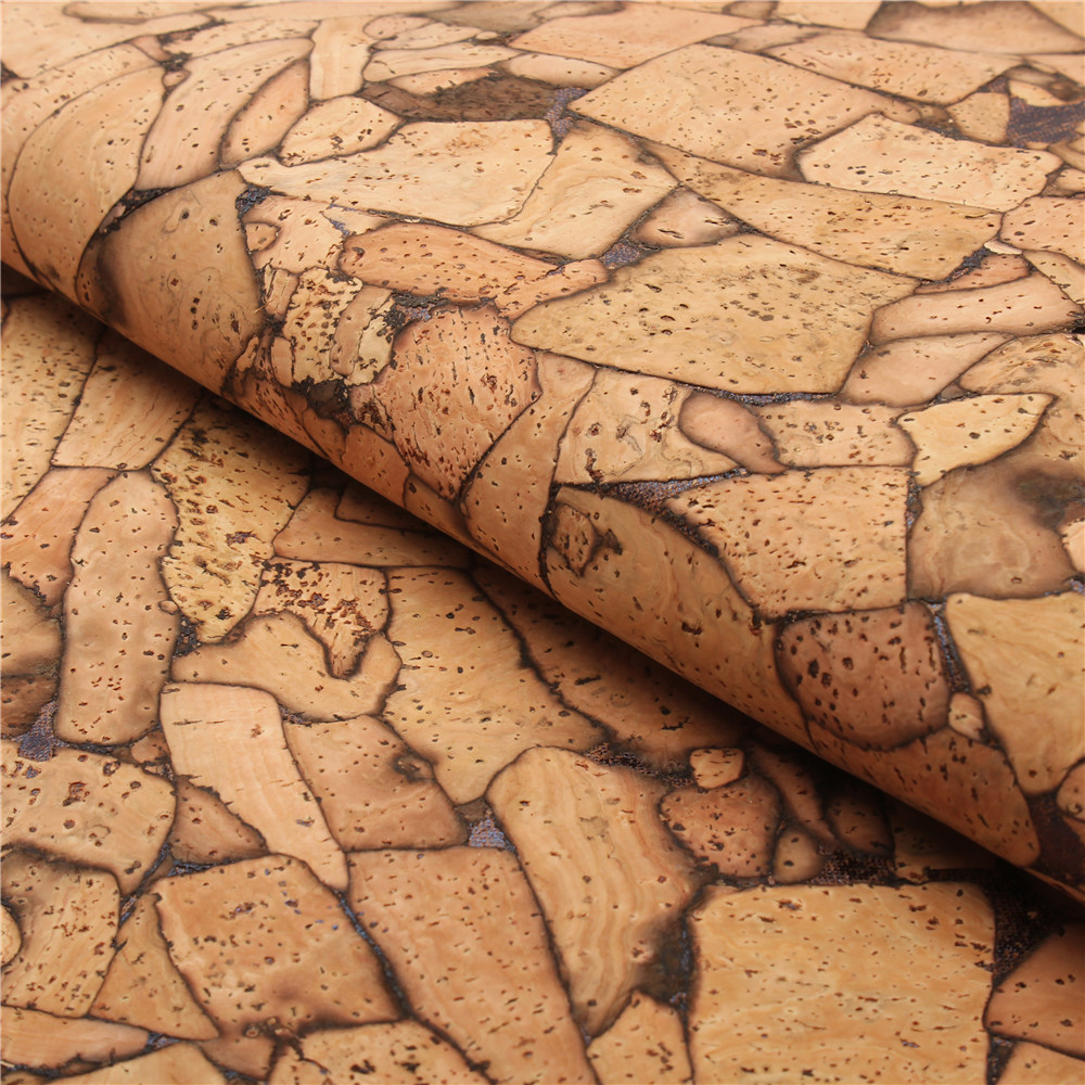 PORTUGAL cork fabric 68x50cm/135x100cm rustic Cork leather Vegan waterproof Abrasion resistance fabric COF-135 textile creations 1336 rustic woven fabric small