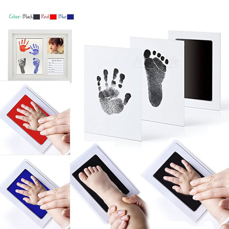 Cute Newborn Footprint Ink Pad Handprint Non-Toxic Clean-Touch Pearhead Lovely
