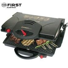 Гриль-пресс FIRST FA-5330 Black(Мощность 2000 Вт, съемные антипригарные поверхности, раздельная регулировка температуры