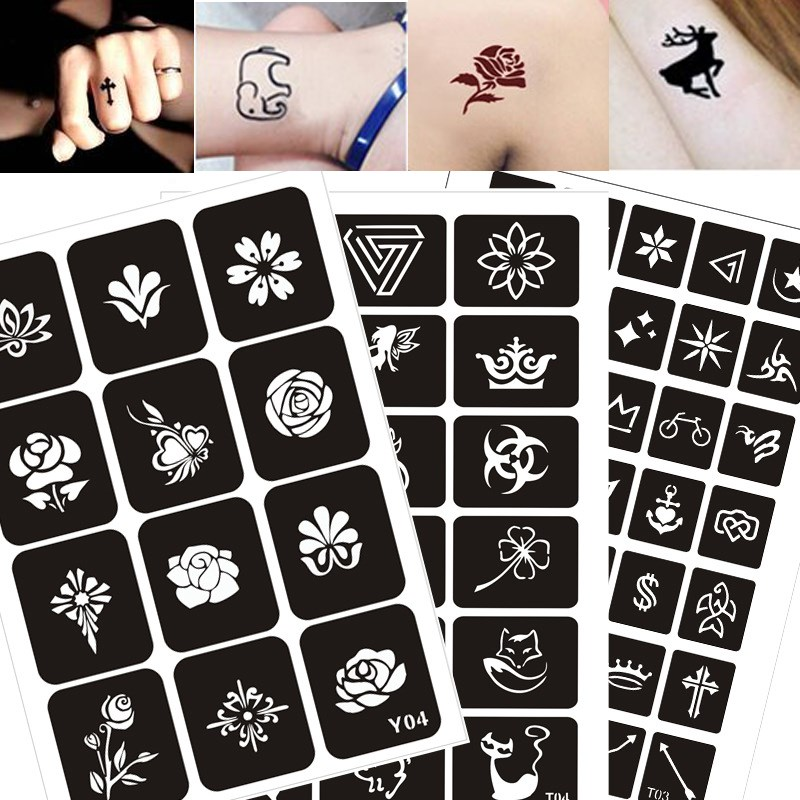 200 Patterns Airbrush Glitter Tattoo Drawing Henna Template Cat Flower Letter Sexy Women Body Hnad Art 200 Patterns Airbrush Glitter Tattoo Drawing Henna Template Cat Flower Letter Sexy Women Body Hnad Art