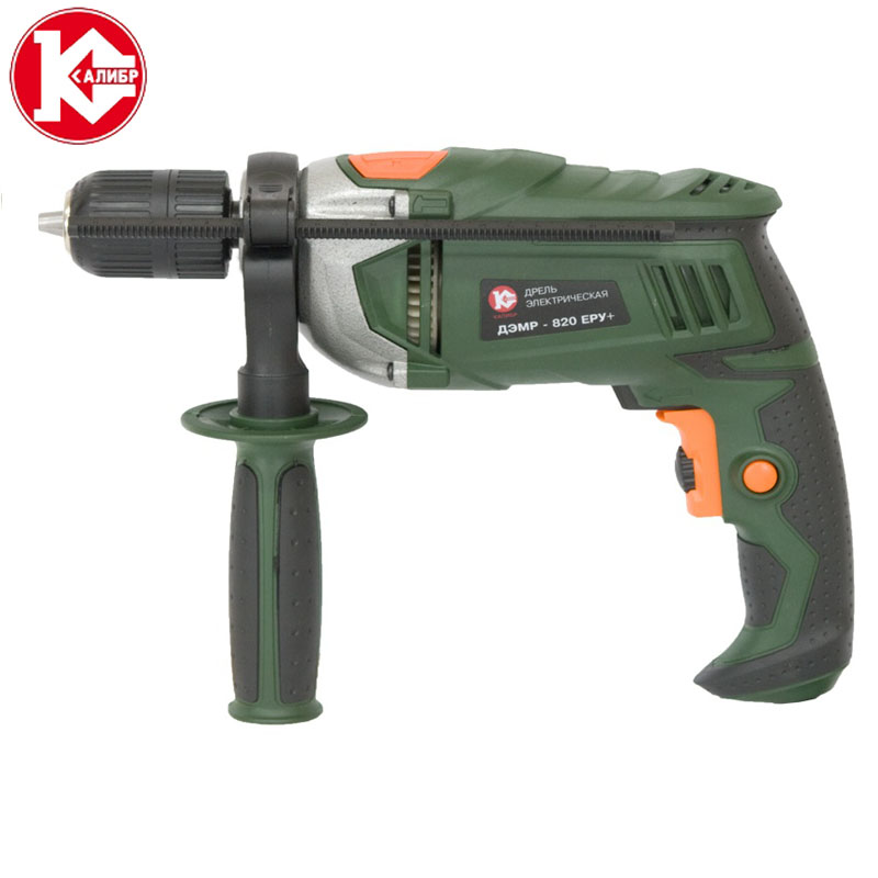 Kalibr DEMR-820ERU+ Electric Drill Hammer Drill Drill Multi-function Adjustable Speed Woodworking Power Tool 703b multi functional car emergency hand cranking flashlight safety hammer