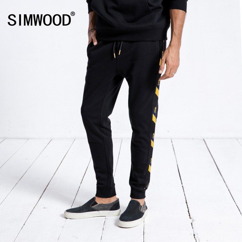 SIMWOOD Marque pantalons de Survêtement Hommes 2019 Hiver Nouveau Jogger Pantalon Pantalon Hommes De Mode Cordon Casual Chaud Hip Hop Streetwear 180542