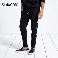 SIMWOOD marka Sweatpants erkekler 2020 kış yeni Jogger pantolon pantolon erkekler moda İpli Casual sıcak Hip Hop Streetwear 180542
