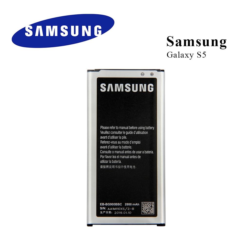 Bateria original para samsung galaxy s5 g900 g900s g900i g900f g900h 9008 v 9006 v 9008 w EB-BG900BBE EB-BG900BBU EB-BG900BBC nfc