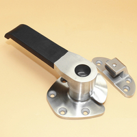Free Shipping Stainless Steel Door Handle Steam Box Pull Oven Door Lock Cold Store Knob Cabinet