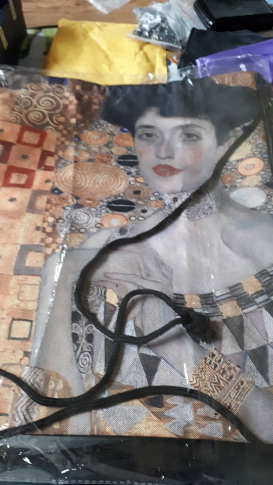 Custom Gustav Klimt #9 softDrawstring Backpack Bag Cute Daypack Kids Satchel (Black Back) 31x40cm#180531-02-22 photo review