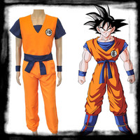 Japan Anime Dragon Ball Z Cosplay Costume Son Goku Monkey King Cosplay Clothes Halloween Party Wear high quality euro size