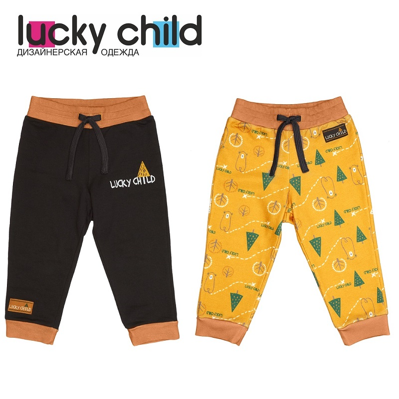 Pants & Capris Lucky Child for boys 63-11f winter holidays Leggings Hot Children clothes lace insert leggings
