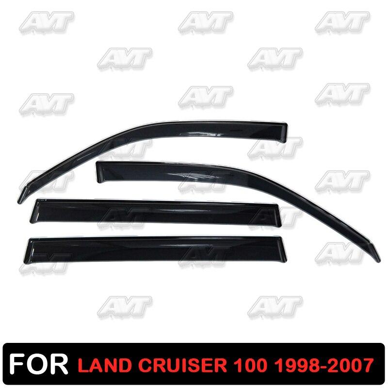 Window Deflectors For Toyota Land Cruiser 100 1998-2007 1 Set-4 Pcs Car Styling Wind Decoration Guard Vent Visor Rain Guards