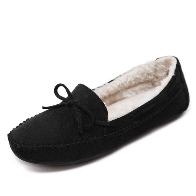 Cómodos Mantener Negro gris 2019 Bow Decoración Simples Antideslizantes Zapatos naranja vino Los Más Moda Terciopelo Caliente Tinto Guisantes Planos Invierno Para Sh179 nUYxTUvwqr