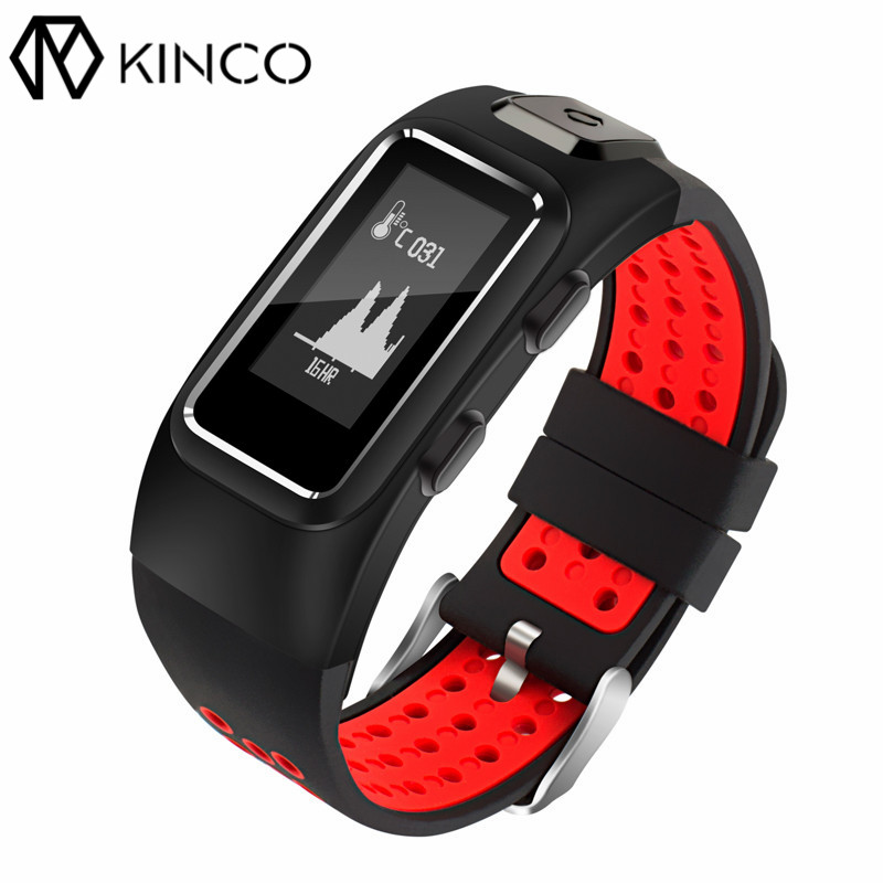 KINCO OLED Bluetooth GPS Bracelets Heart Rate Blood Oxygen Blood Pressure Sleep Monitor Sports Smart Wristband for IOS/Android