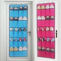 20 bolsillos que cuelgan sobre puerta interior Zapatos organizador almacenamiento rack colgando armario Calcetines Corbatas gancho Space Saver