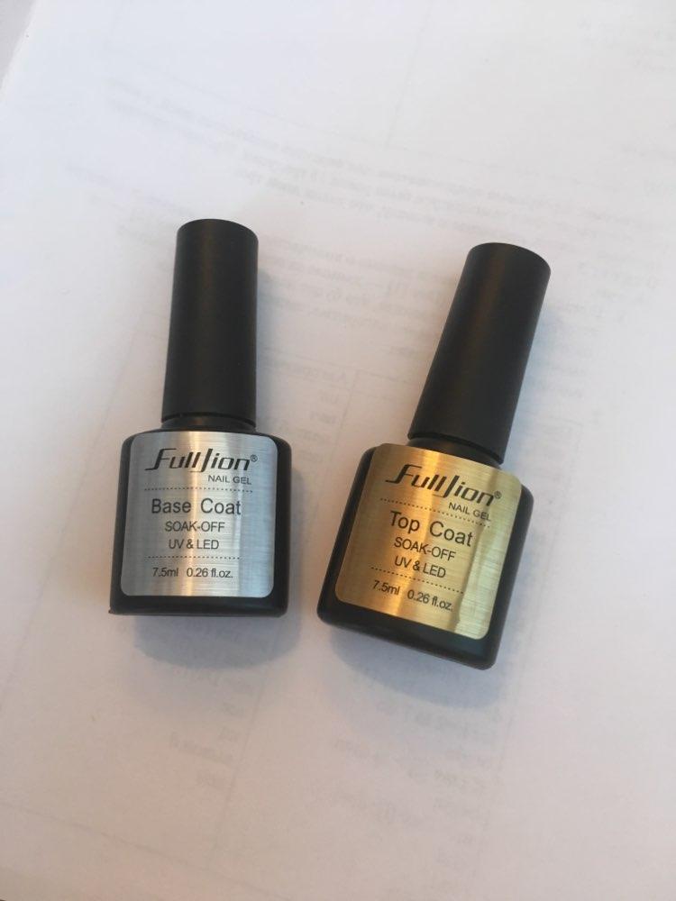 Fulljion Base Top Coat Transparent Nail Art Gel Nail Polish UV LED Soak Off Long Lasting Primer Lacquer Nail Manicure Varnish