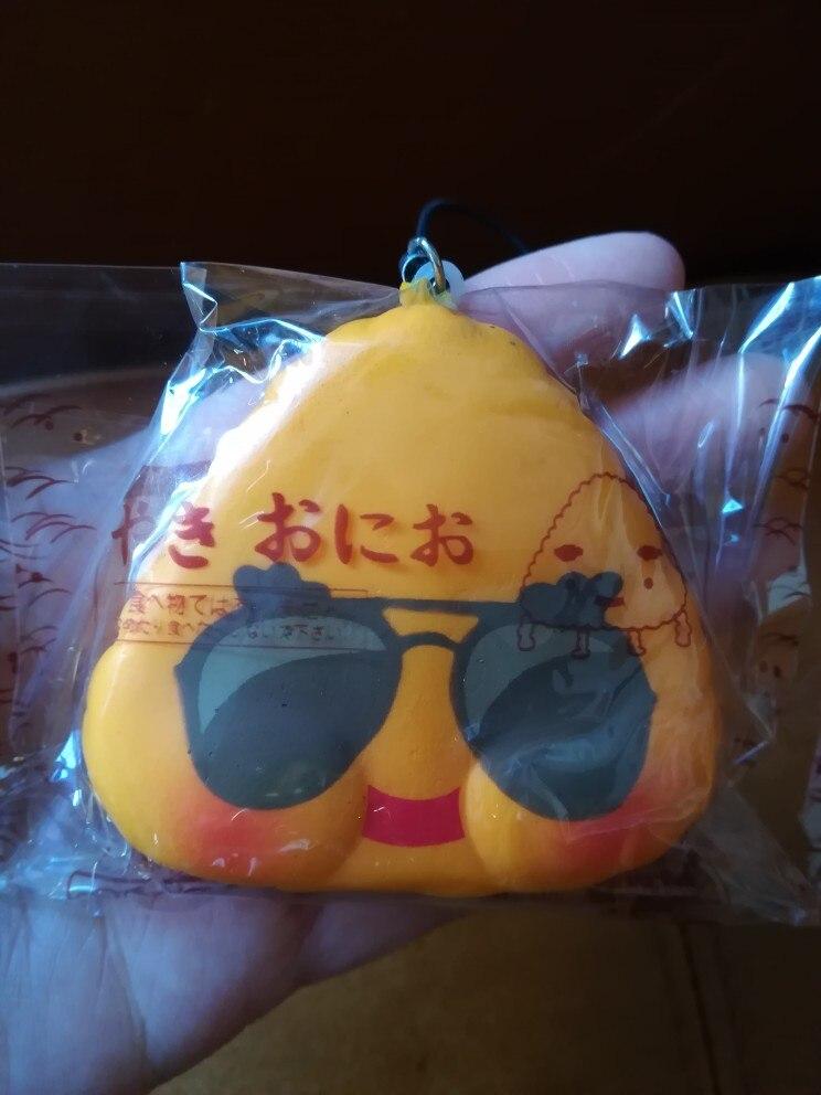 Kuutti Squishy Random 1 pc Lovely Japan Sushi Food emoji rice Kawaii Mobile phone strap New Arrival Hard PU photo review