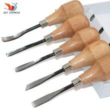 QSTEXPRESS 5 шт./лот нож для резьбы по дереву приклад/угол/косой/Круглый/дуговой мачете зубило для резьбы по дереву
