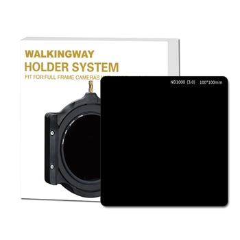 Walking Way szkło optyczne 100mm filtr nd 10-stop ND1000 8-stop ND64 multi-coated 100*100 neutralna gęstość aparat kwadratowy filtr tanie i dobre opinie ND Square Filter 100*100mm Optical G ND1000(3 0) ND64(1 8)