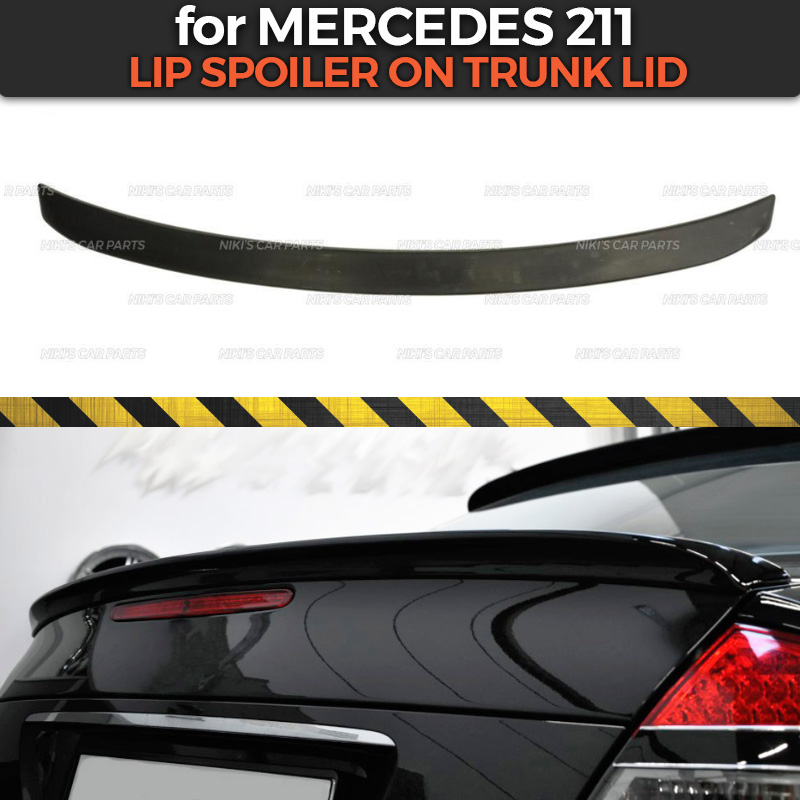 Lip spoiler case for Mercedes Benz 211 2002 2009 on trunk lid ABS plastic sport style