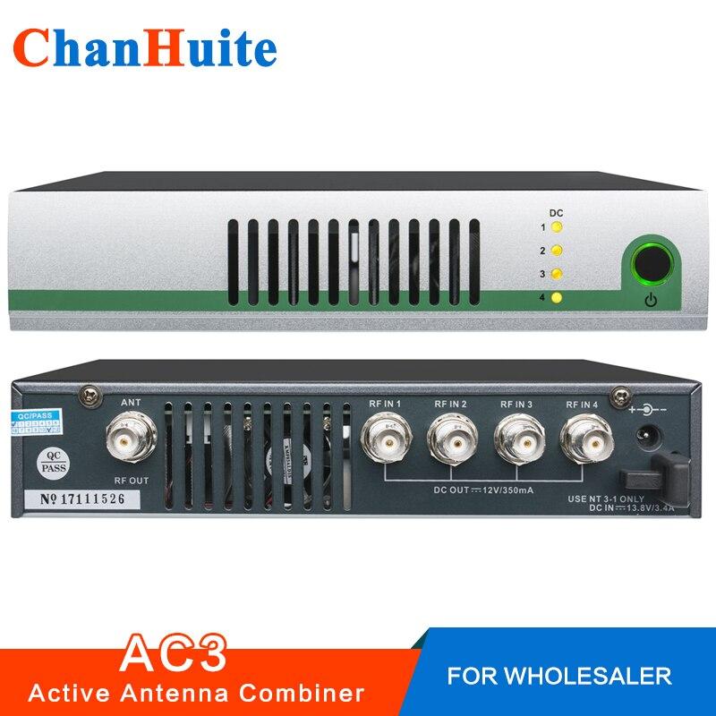 AC3 Attivo Antenna Combinatore Kit UHF 470-900 mhz antenna combinatori splitter per per In-Ear Sistema di Monitoraggio Trasmettitori