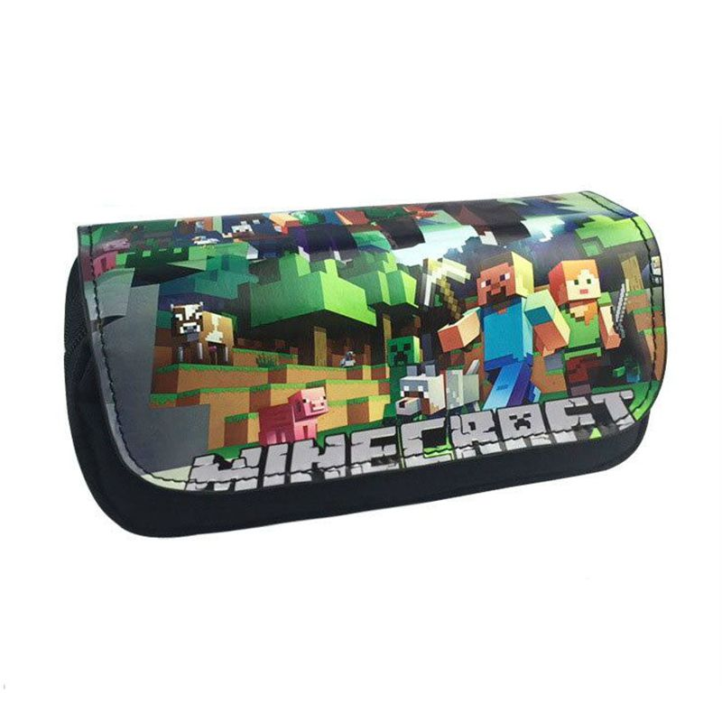 Minecraft Pencil Case For Boy School Student Supplies Kawaii Pencil Bag Anime Super Big Pencil Box Pencilcase Bts Stationery minecraft pencil case for boys pencil case multifunction pencil box big capacity pencil bag school supplies bts stationery gift