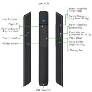 Image 3 - Knorvay N78 Wiederaufladbare Rot Laser Pointer USB flash disk Licht Wireless Presenter PowerPoint Clicker Präsentation Fernbedienung