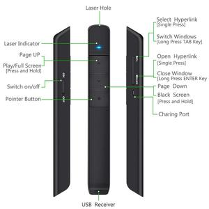 Image 3 - Knorvay N78 şarj edilebilir kırmızı lazer işaretçi USB bellek disk işık kablosuz Presenter PowerPoint Clicker sunum uzaktan