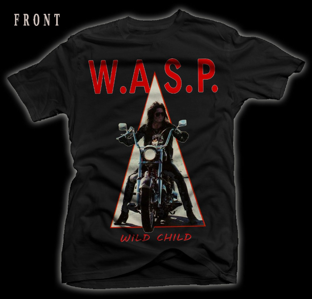 Custom T Shirts Crew Neck Short W.A.S.P. Wild Child Heavy Metal Judas Priest T-Shirt Sizes S To 3XL Top Mens T Shirt