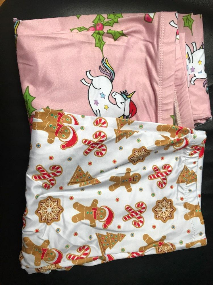 Unicorns Printing Elegant Leggings High Waist Woman Pants photo review